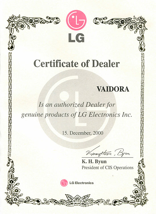 Certificate-of-dealer vaidora
